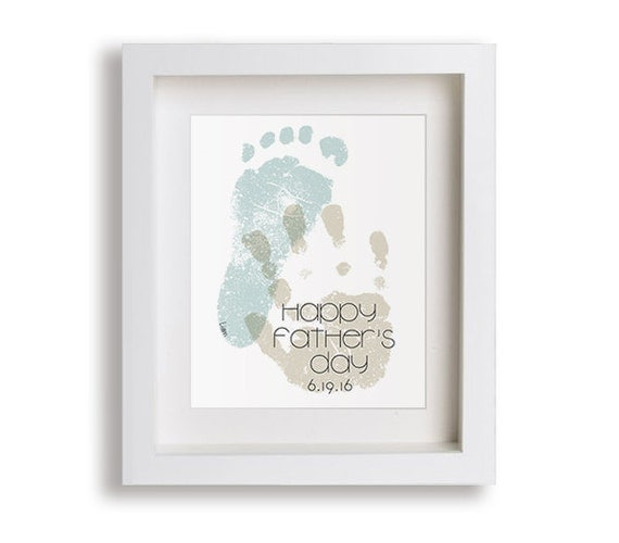 Father's Day Personalized Art Print - Hand and Foot Prints, Gift Idea, Fathers Day Gifts from Kids, Gift for Dad, Keepsake, Custom,