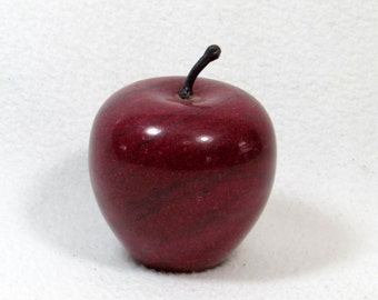 Marble Apple Paper Weight