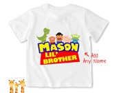 Little brother shirt toystory side Tshirt - Personalized Little brother Shirt or Bodysuit - 033_BB_2C_toystory side
