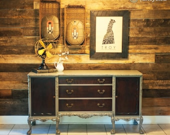 Antique Mahogany Claw and Ball Buffet
