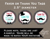 Matching Party Favor Tags Matching Thank You Tags - Printable - Personalized Message - Photo Card - Made to Match any Card in my Shop