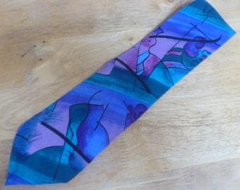 Peter Max NeoMax silk necktie