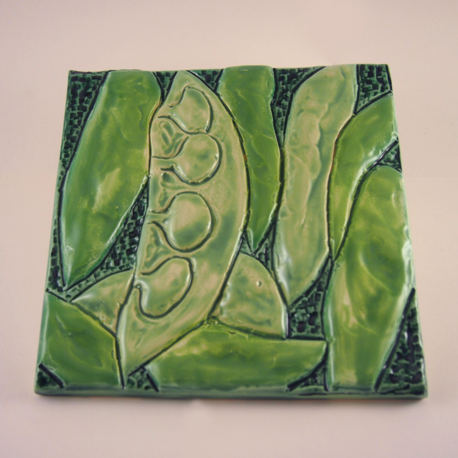 Lima beans low relief ceramic art tile indoor wall hanging zoom dailygadgetfo Choice Image
