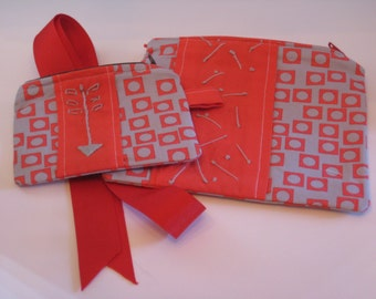 Zipper Pouches- Set of 2