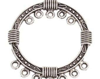 10pc antique silver finish metal chandelier components-7682D