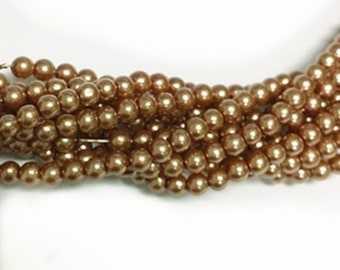 5 strands(1200 pcs) 3mm  pearl round glass beads-7162h