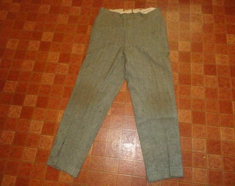 Men's Vintage Dated 1917 A.B MATHEWS & Co Double Cinch Tweed Pants Sz-36x30