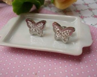 earrings, butterflies