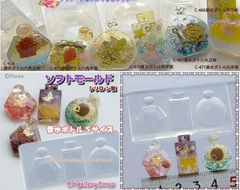 SALE mini parfume flexible mold 3 in 1 for resin and clay