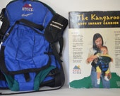 """Kangaroo """"Kelty Kid"""" Soft Infant Carrier-9 wks to 12 mo.-Holds Diapers and Bottle-Fully Adjustable-Privacy Hood for Nursing-Never Been Used"""
