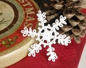 Crochet snowflakes Hanging winter decorations White Christmas decor Crochet ornament White crocheted snowflake Handmade ornaments S14
