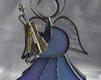 Angel with Violin Stained Glass