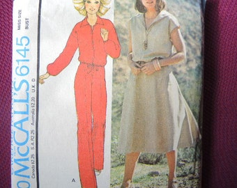 vintage 1970s McCalls sewing pattern 6145 misses unlined jacket pants and skirt size 12