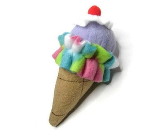 Cat Toy - Catnip Ice Cream Cone  - Available in Catnip, Lemongrass, SilverVine, Valerian, and Honeysuckle