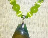 Green Adventurine Semi-Precious Pendant Necklace