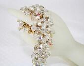 D & E Julianna Bracelet Sparkly Crystal  and Rhinestone Bracelet Vintage Wedding Bracelet