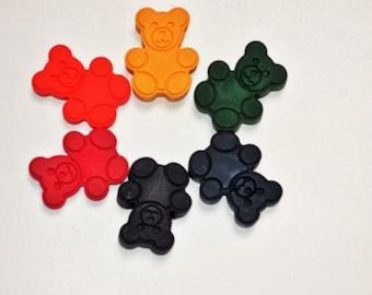 Teddy bear crayons, teddy bear picnic, party favors, goody bags