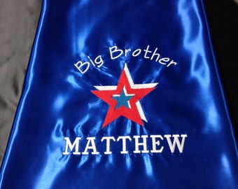 Super Hero Cape, Kids Cape!  Big Brother Cape  Embroidered  Personalized with Name