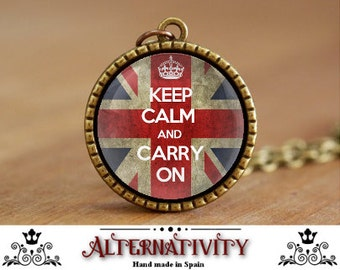Keep calm and carry on pendant Keep calm and carry on necklace (69)