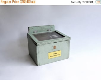 Half Price SALE Vintage Industrial Factory Box from Alabama Textile Mill