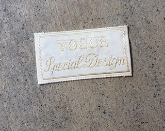 Vintage 1960's Vogue Special Design Sew in Garment Label UNUSED