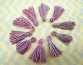 Wholesale 20pcs rainbow tassels silk tassels satin tassels Jewelry tassels for decorating tassels