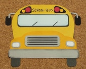 SchoolBus Scrapbook Embellishment - Back to School - Die Cut Paper Piecing - Handmade - Scrapbook Cardmaking  Embellishment