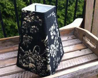 Square Lampshade black and cream French toile Waverly Country House