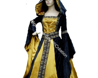 "Dress medieval Celtic ""GWELE AN HEOL"" Elvish, fairy"