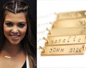 Personalized Name Necklace, Bar Necklace Personalized, Nameplate Necklace, Gold Bar Necklace, Gold Name Necklace, Silver Bar Necklace