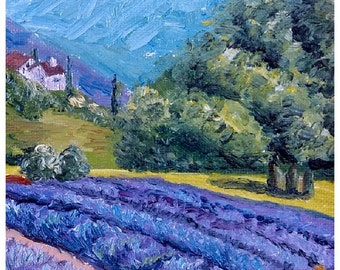 """Oil painting """"Lavender field"""""""
