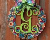 Spring Personalized Door Wreath Wood Wreath Home Decor Wedding Gift Birthday Gift Wall Decor Front Door Hanger
