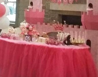 Tutu Table Skirt, Tulle Tutu Skirt, Wedding, Birthday, Baby Shower