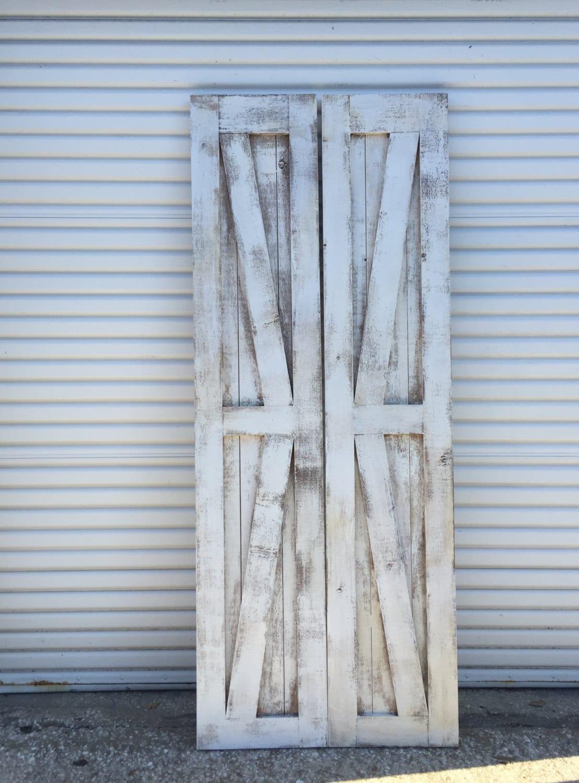 British Brace Barn Doors Shabby Chic British Brace Barn Door