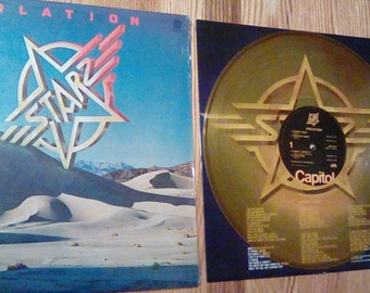 Vintage 1977 Starz Violation Vinyl Record Album Progressive Rock Power Pop Metal Gold Yellow Clear