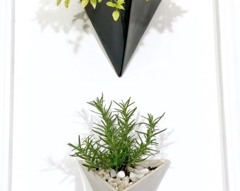 Pyramid Wall Planter Modern Mid Century Home Decor MADE TO ORDER