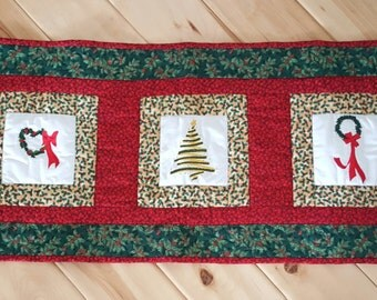 Embroidered Christmas Table Runner
