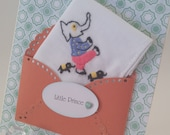 Vintage Keepsake Children's Handkerchief Elephant Baby Boy Little Prince Nursery Decor 1st Birthday Baptism Christening Keepsake Hanky Card