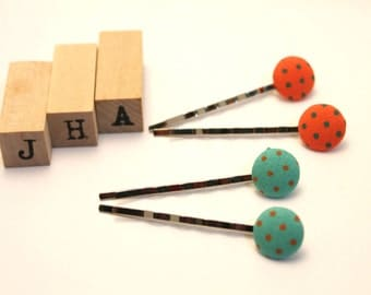 Everyday/Children/Girls/hair clips - Button bobby pins