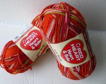 Yarn Sale  - Fire Heart & Sole with Aloe by Red Heart