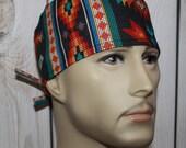 Tucson Beaded Stripe Black,Men's Surgical Scrub Cap,Scrub Hats,Doctors Scrub Hats, Biker Hats, Vet Hats