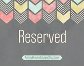Reserved for Custom Listing for Brooke