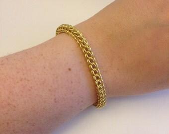 Persian enamelled copper bracelet