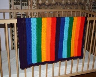 Crocheted Rainbow Baby Blanket