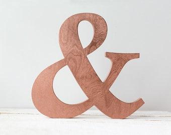 Copper letters, wooden letters, copper initials, copper mantle decor