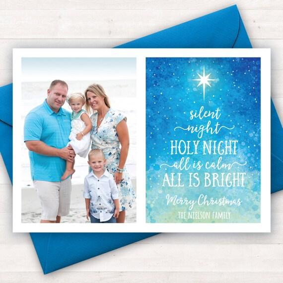 Christian Christmas Cards Printable Photo Christmas Cards