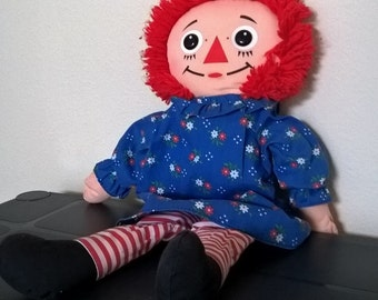 Vintage 1989 Raggedy Ann ragdoll - cloth doll plush 18""