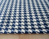Houndstooth Navy Table Runner- 10x57 Table Runner Small Space Table Linens