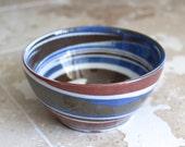 Desert Sands pottery bowl - T. Evans pottery bowl - mid century pottery bowl - swirl pottery bowl - small handmade pottery bowl