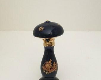 Limoges Miniature Trinket Lamp Porcelain Hand Painted Collectible Figurine Dollhouse VINTAGE France